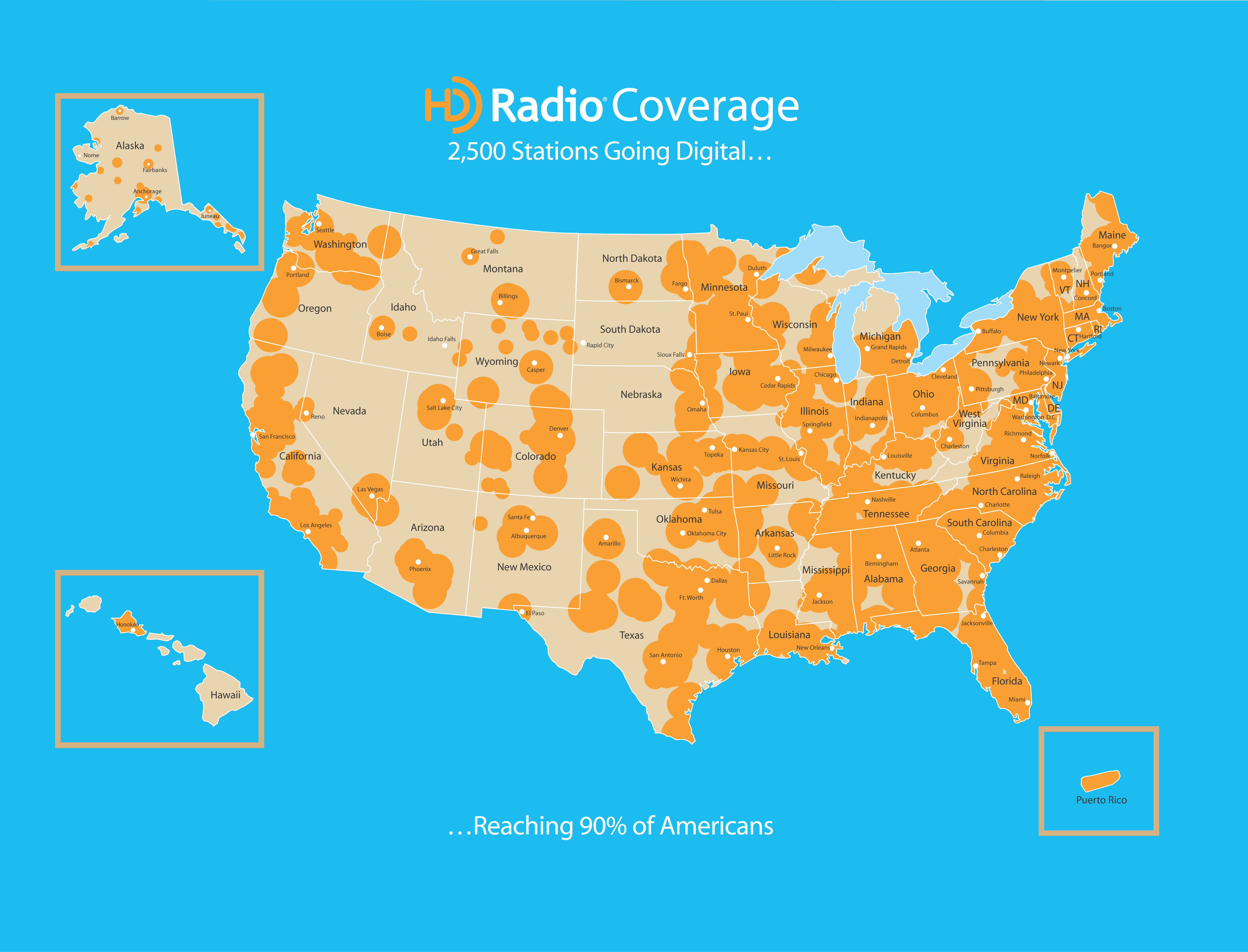 HDRadioCoverageMap REAL DEAL AUTO BLOG - Georgia map hd