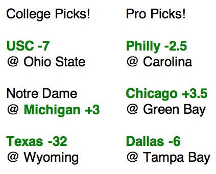 Week One Picks