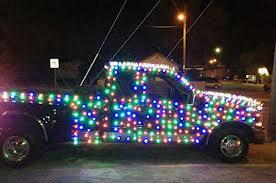 xmas lights truck